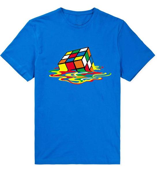 The Big Bang Theory Man T Shirt Multicolored Cube Print Summer Swag Funny Cotton Short Sleeve Men Shirts Brand Clothing Tees MCT060