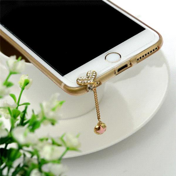 Luxury Crystal Mobile Phone Accessories 3.5 MM Universal Dustproof Earphone Jack Anti Dust Plug Cap For iPhone Samsung Sony HTC