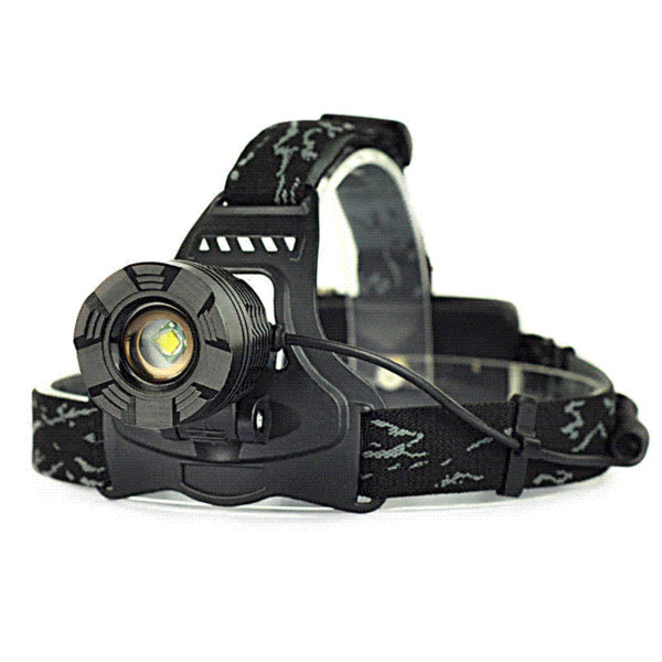 2000LM XM-L T6 LED Rechargeable Zoomable 18650 Headlamp Head Light Torch Black For camping, fishing, hiking, and hunting etc.