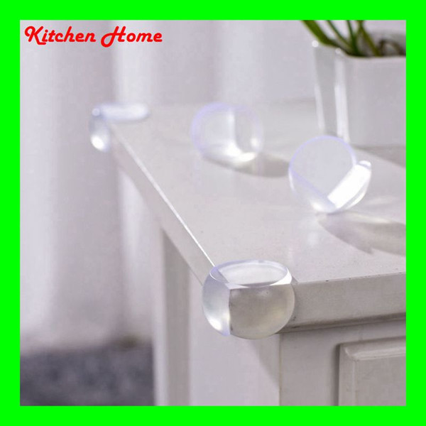 Free shipping Transparent Corner Protectors Corner Cushions For Glass Tables Or Shelves With 3M Sticker Baby Safe