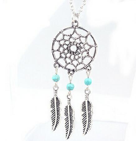 best selling 2016 Fashion hot Pendant Necklaces 4 Styles Alloy Dream Catcher girl Necklace For Women Statement Necklace Jewelry Dreamcatcher NK27