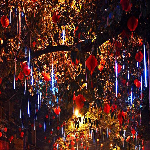 Wholesale-20CM 30CM LED Waterproof Meteor Shower String Light Rain Tube Hanging Outdoor Christmas Light Wedding Party Garden Xmas String