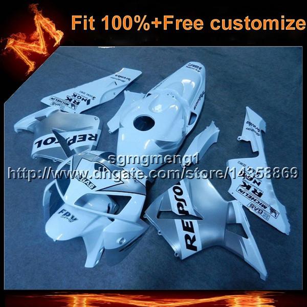 23colors + 8Gifts Spritzgusswerkzeug REPSOL WHITE Motorradabdeckung für HONDA CBR600RR 2005-2006 CBR600RR 05 06 ABS Kunststoff Verkleidung