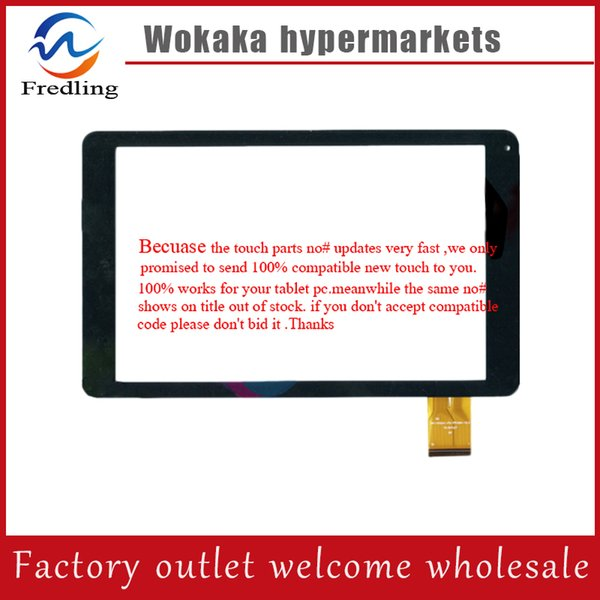 "Wholesale- White black 10.1"" inch DH-1022A1-PG-FPC094-V2.0 For tablet PC touch screen panel digitizer glass sensor replacement"