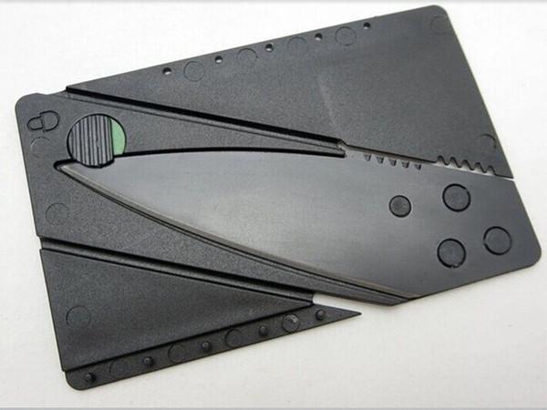 Gros-TK0011A / Nouveau 50PCS couteau avec poignée en acier pliant couteau de sécurité camping en plein air outil de portefeuille de poche de survie