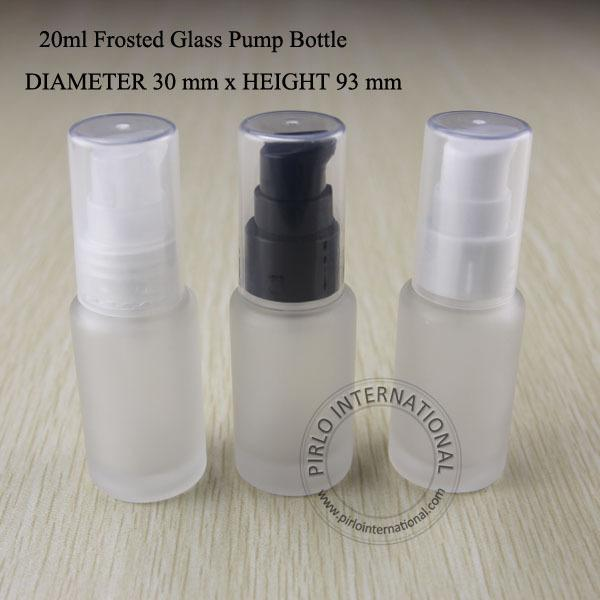 20ml Frosted Glass Lotion Pump Spray Bottle Cream Containers Split Charging Jars Cosmtic Packaging Skin Milk Jars 10pcs