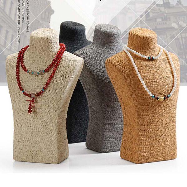 Haute 29 cm 2016 Mode collier buste enveloppé mince porte-bijoux de support de corde avec haute artisanat quatre couleurs en option poids léger