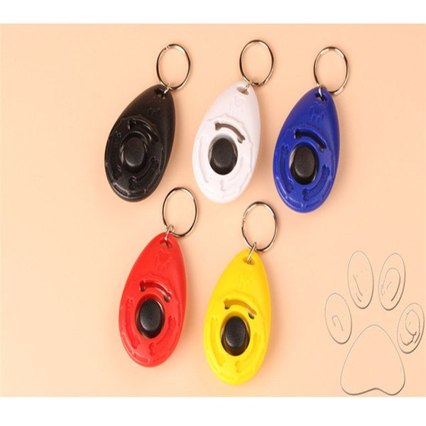 Colorful Hot Sales Pet Supplies Dog Cat Puppy Click Clicker Training Obedience Trainer Aid Tools Plastic Mixed Colors DHL Free 161012