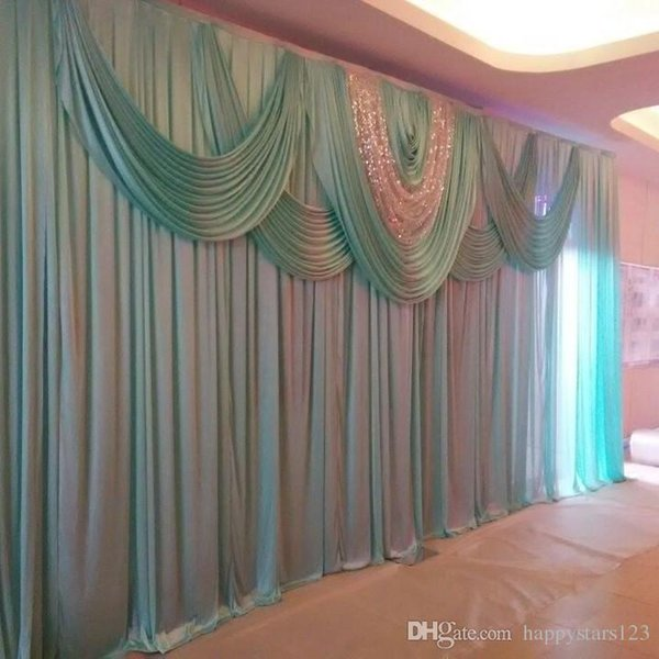 New Customized Wedding Backdrop with Beatiful Sequins Swag Wedding Drape and Curtain Wedding Decoration