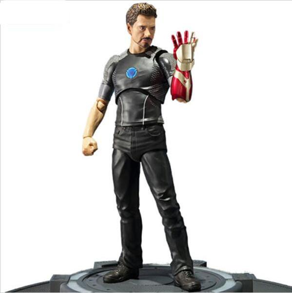 New Iron Man 3 Tony Stark Tony's Powered Stage Toy Action Figure Model Gift Free Shipping