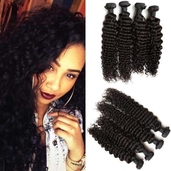Peruvian Hair!!Cheap Peruvian Hair Extension Deep Wave Hair Weft 8-30 inch G-EASY Free Shipping