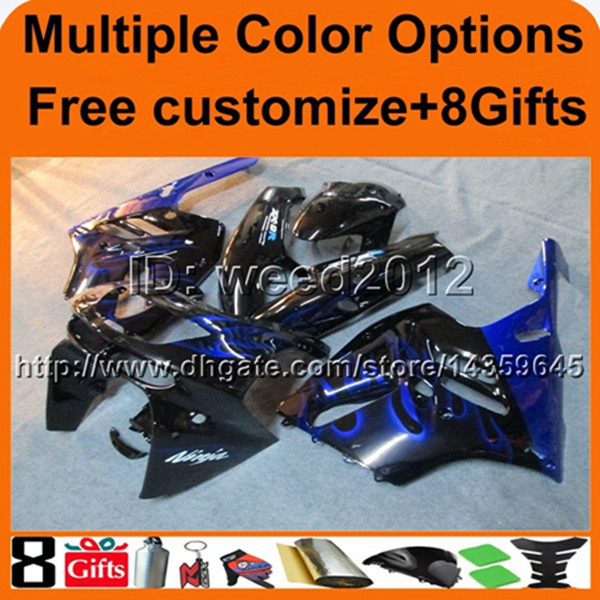 23colors+8Gifts BLUE BLACK ABS cowling zx-9r 1994 1995 1996 1997 Bodywork Set motorcycle fairing for Kawasaki Ninja