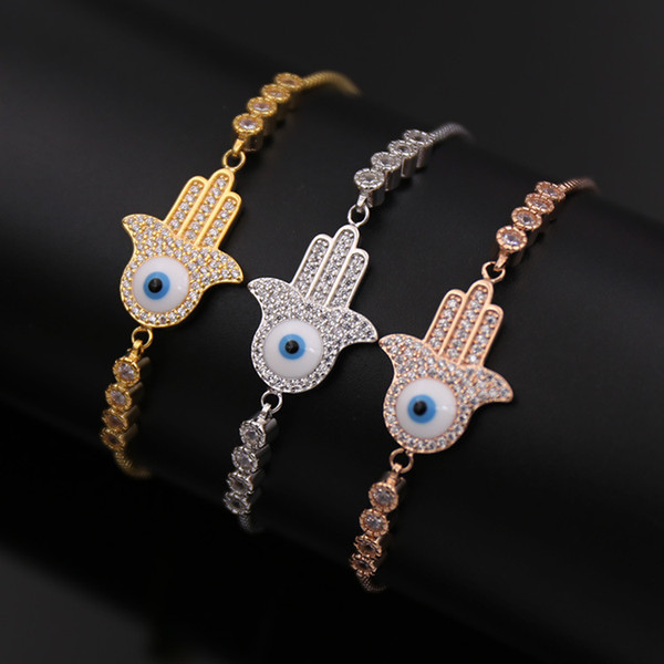 2018 Wholesale And Retail Copper No Bread Full Stone Plam Eye Bracelet 3D  Model From Messy711, $8 13 | DHgate Com
