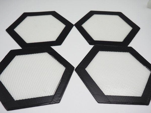 best selling Free shipping!!Hexagon shape Food Grade Non-stick Silicone Baking Mat Dabber Sheets