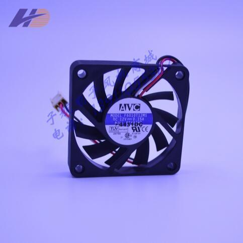 Wholesale: original F6010T12MS 60*60*10 12V 0.15A AVC three wire speed CPU fan