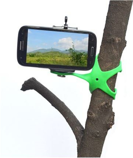 Portable Universal Octopus Flexible Gecko Mini Tripod Mount Multi Function Phone Camera Stand Spider Holder For Cell Phone Car