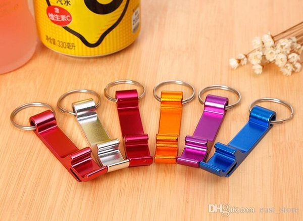 Key Chain Metal Aluminum Alloy Keychain Ring Beer Can Bottle opener Openers Tool Gear Beverage Custom Personalized