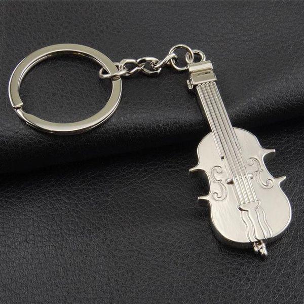 2019 New Design Multifunction Key Holder Key Ring Bottle Opener Metal  Guitar Keychain Creative Alloy Violin Key Finder Key Chain Ring Gift From