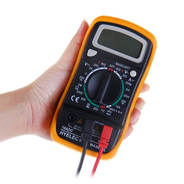 HYELEC MAS830L Ручной цифровой мультиметр с переменным током постоянного тока Вольтметр Омметр Тестер с подсветкой дисплея $ 18 без отслеживания