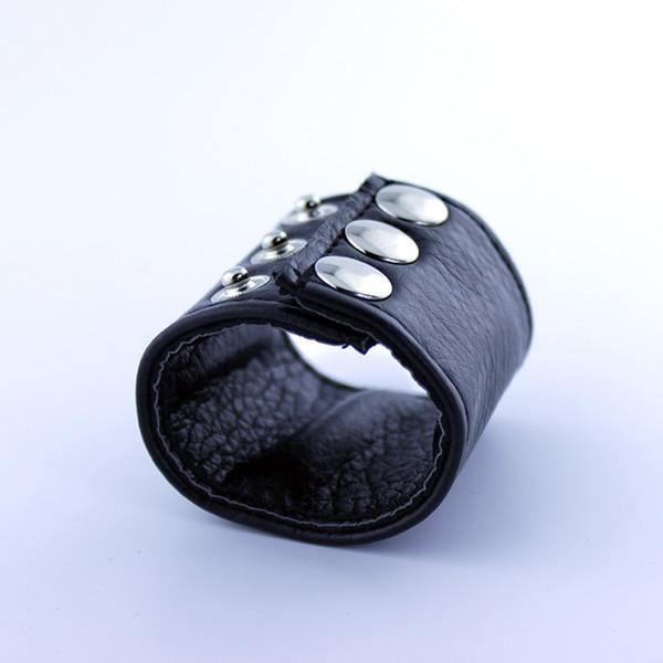 Testicoli di pelle regolabili che allungano i giocattoli del sesso della barella della palla dell'anello per gli uomini A130