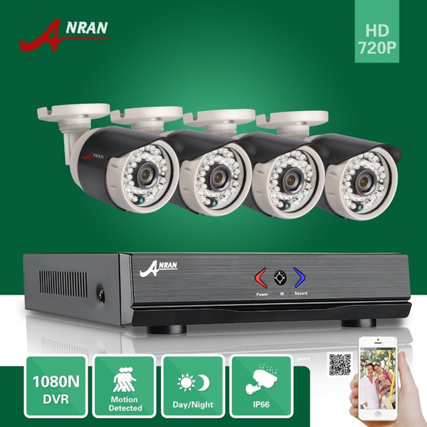 DHL FREE ANRAN 4CH HDMI 1080N AHD DVR HD Day Night 1800TVL 36IR IR-Cut Waterproof Outdoor Security Camera CCTV Home Surveillance System