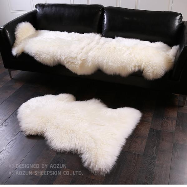AOZUN 1P 4P Real NZ sheepskin rug 4 colors shaggy sheep skin fur carpet for home