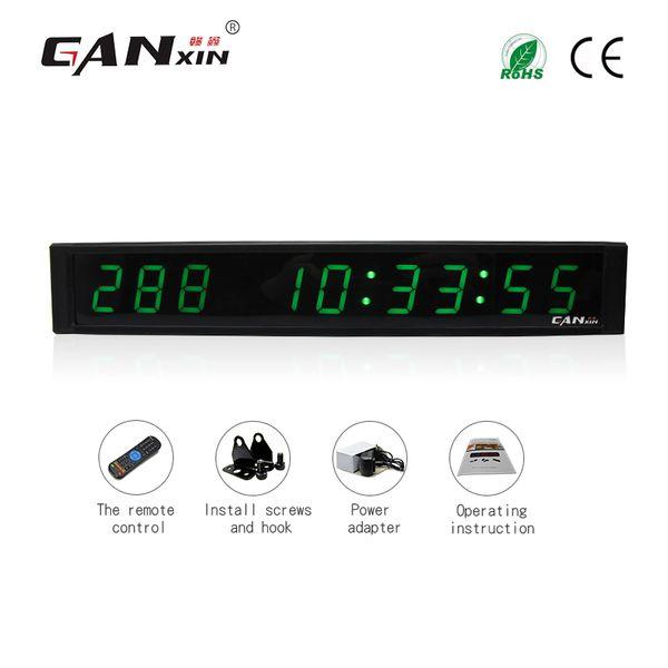 [Ganxin] 1 polegada 9 dígitos LED relógio de parede cor verde dias de LED minutos e segundos de contagem regressiva relógio temporizador com controle remoto