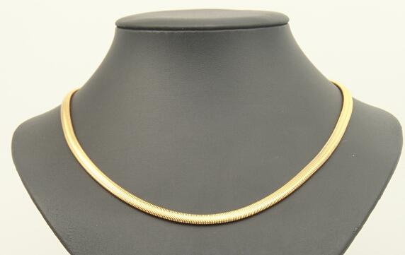 best buy fine YellowGold jewelry Heavy! Free shipping ClassicWomen's18k yellow solid gold GF chain necklace length 23.6in wide 8mm