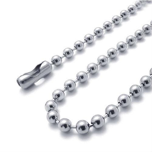 Wholesale 304 Stainless Steel Beaded Ball Chain Necklace Chains 45cm 50cm 60cm 70cm 20pcs/lot FN100