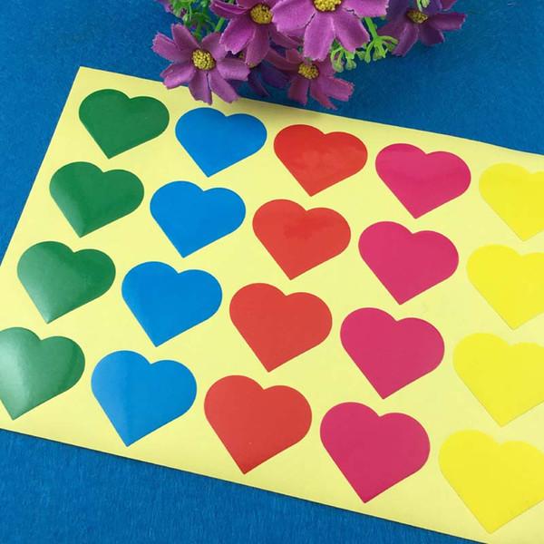 Купить Оптом Красочные Печать Сердце Формы Наклейки Этикетки