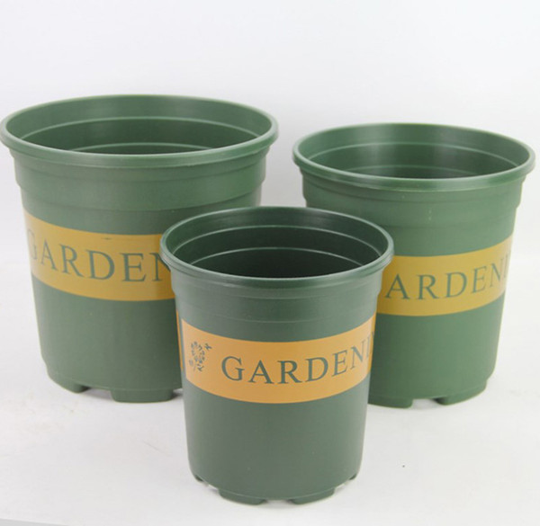 10PCS MOQ Injection Molded Grow Pot Plastic ,Round Duty Hard Planting pot 1/2/3/5 Gallon Flower Pots Planter