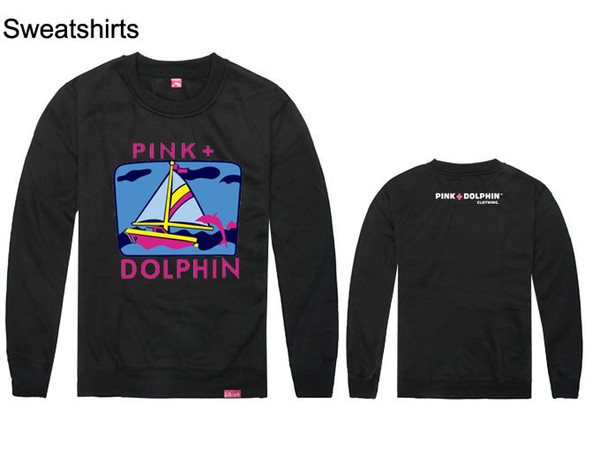 hip hop autumn and winter men and women leather and leopard long sleeve love sweatshirts pink dolphin men hip hop hoodies cheap
