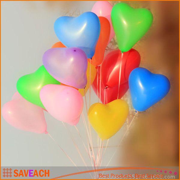 1.8g/1.5g Latex heart Balloon Birthday Party Baloons wedding Decorations Air Balloons Love Heart Shape Balloon hot sale free shipping