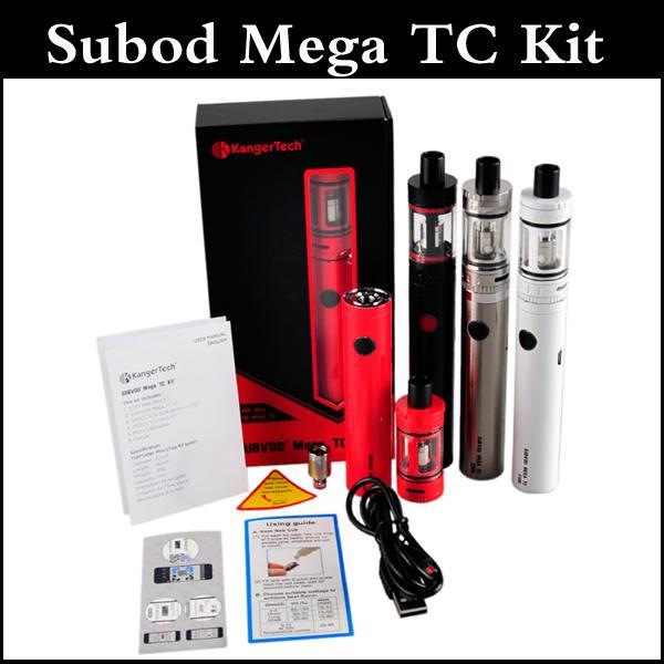 Subvod Mega TC Starter Kit клон 2300mAh Температура батареи управления с 4мл Top заполнени бака мега toptank мини через DHL