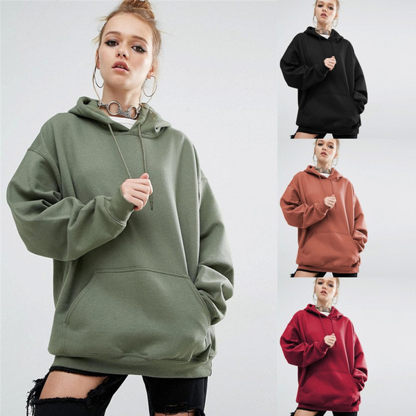 Plus Size Europe Style Women Hoodies Autumn Winter Thick Long Pullover Tops With Batwing Slevee Oversized Grils Cool Outwear LX3501