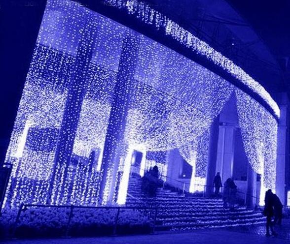 4m*2m300LED lights flashing lane LED String lamps curtain Christmas home garden festival lights Icicle Lights AC110v-220v EU UK US AU PLUG