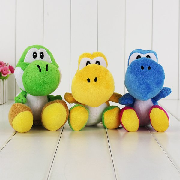 18cm 3 Styles Super Mario Yoshi Plush Toy Soft Stuffed Doll Toy for kids gift toy free shipping EMS
