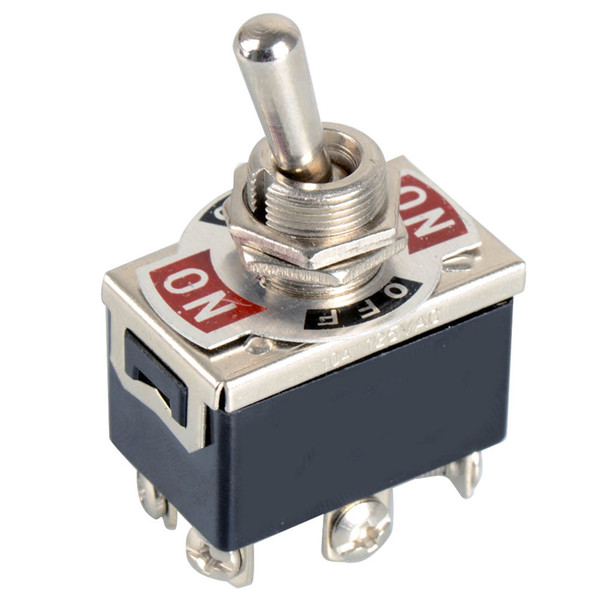 top popular 1xBlack 6-Pin Toggle DPDT ON-OFF-ON Switch 15A 250V Mini Switches E-TEN1322 B00099 BARD 2021