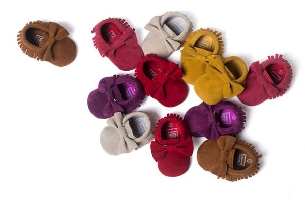 170 Styles Baby Soft PU Leather Tassel Moccasins Girls Bow Moccs Baby Booties Flock baby girl shoes Tassel Shoes Moccasin Many colors