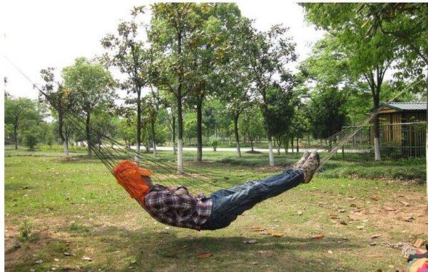 Tragbare hängende Bett Leinwand Stoff im Freien Camping Jagd Hängematte Kinder niedlichen Gartenschaukel Hängematten Hängen Mesh Hängematte versandkostenfrei