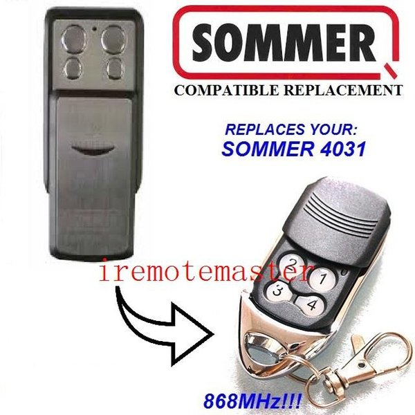 Universal remote for SOMMER 4031 remote control garage door remote replacement freee shopping