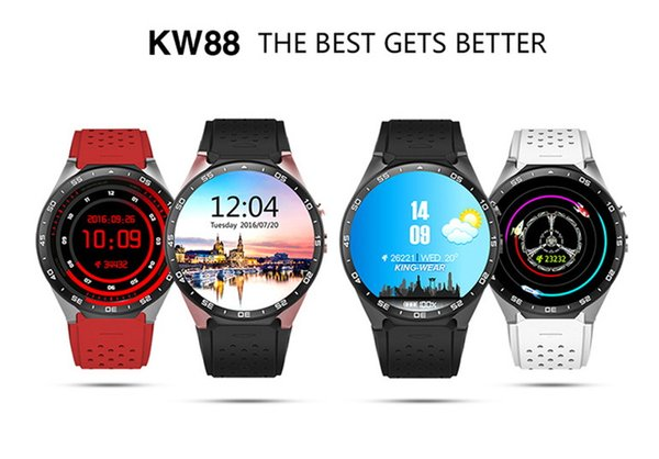 Smart Watch Kw88 android 5.1 OS electronics android 1.39 inch mtk6580 SmartWatch phone support 3G wifi nano SIM WCDMA
