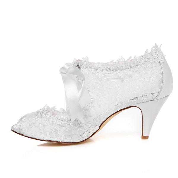 6.8cm High Ivory Color Nice Lace Bootie Bridal Shoes Wedding Dress Shoes Handmade Shoes Evening Shoes Prom Party Shoes Size35- 42