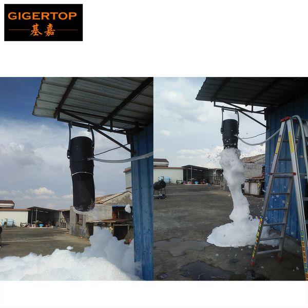 top popular 1200W Hanging Foam Machine Manual Control Huge Volum Foam Machine In Carnival Wedding Party Hanging Stage Light Flight Case Packing CE 2021