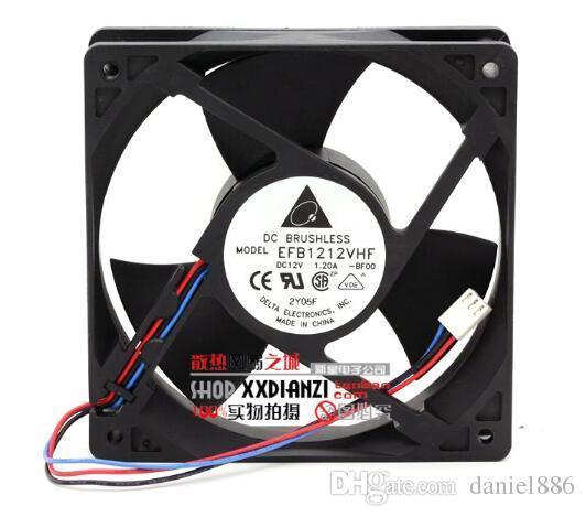 The original delta EFB1212VHF 12V 1.20A 12032 120*120*32MM 12 cm 3 line wind fan violence
