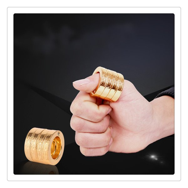 Classical Self Defense Brass Knuckles Dusters Thin Shape Equipment Self-defence Hand Buckle High Quality Exercise Fists Gear Free DHL