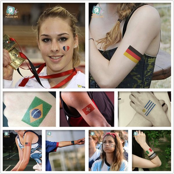 Olympic flags face tattoos activities Promotional Environmental tattoo stickers affixed to face Olympic flag tattoo sticker