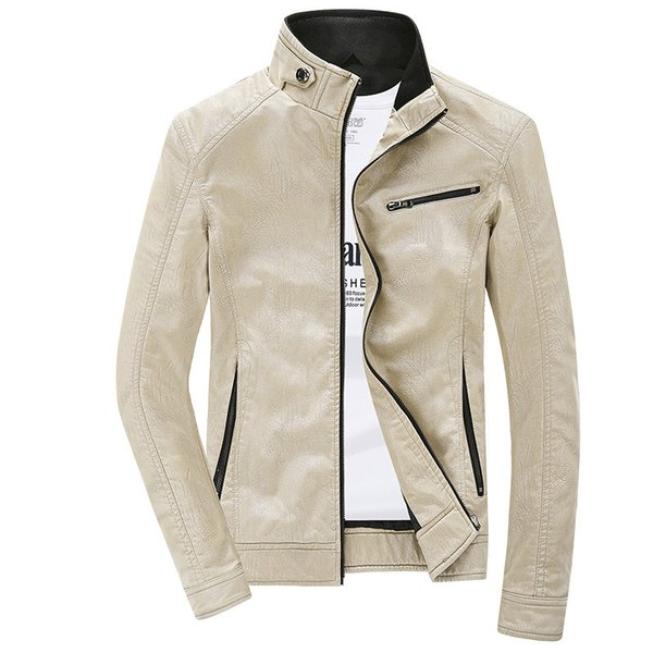 119e71c1c Fall-Leather Jacket Men 2016 Fashion Autumn Winter PU Jackets And Coats  Mens Casual Jacket