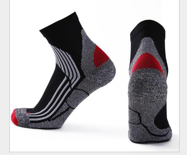 5 Colors Fluorescence Men Women Nylon Cotton Compression Sport Socks Elite Basketball Sock Professional Towel Bottom Running Football Sox