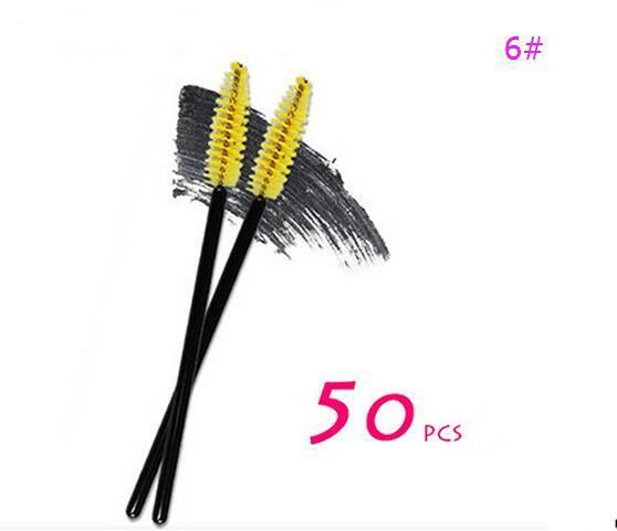 6# Yellow Eyelash Brush